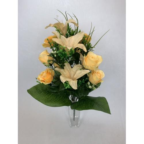 Bukiet Róża - Lilia M2 z dodatkami kolor 3