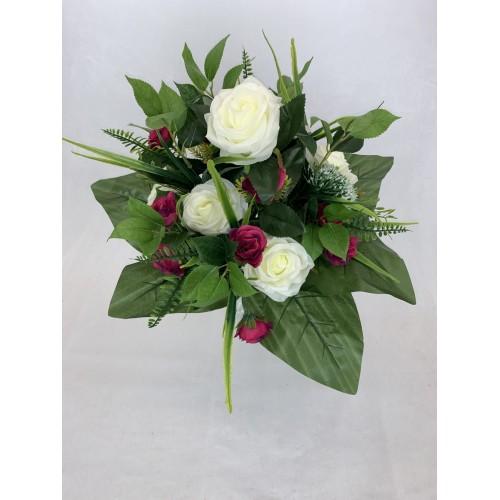 AFL0342 Bukiet róża z małymi różyczkami KOLOR 5