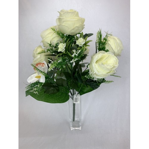 AFL0576 Bukiet 7 Róż i Storczyk kolor 1